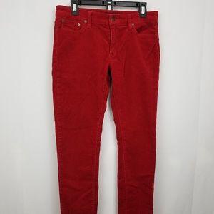 Ralph Lauren Sport Women's Red Corduroy Pants 10